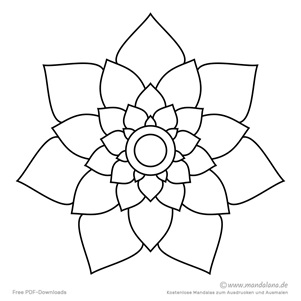 Mandala Ausmalbilder Vorlagen Ausmalen 12