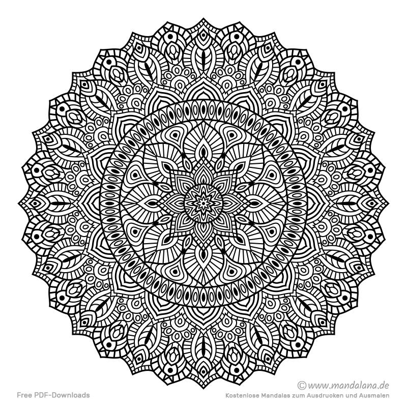 Mandala Malvorlagen - Schwierige Mandalas zum ausmalen!