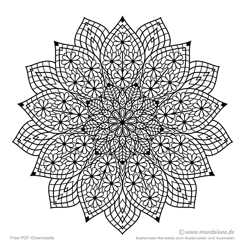 Mandala Malvorlagen Schwierige Mandalas Zum Ausmalen